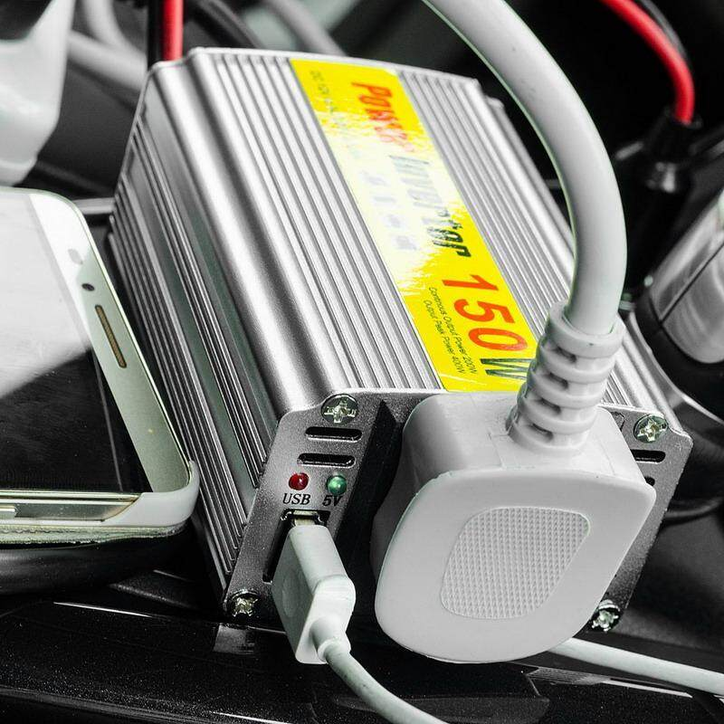 1 PC Hot Selling 150W Outlets Power Inverter DC 12V to AC 220V Car Adapter Laptop Smartphone