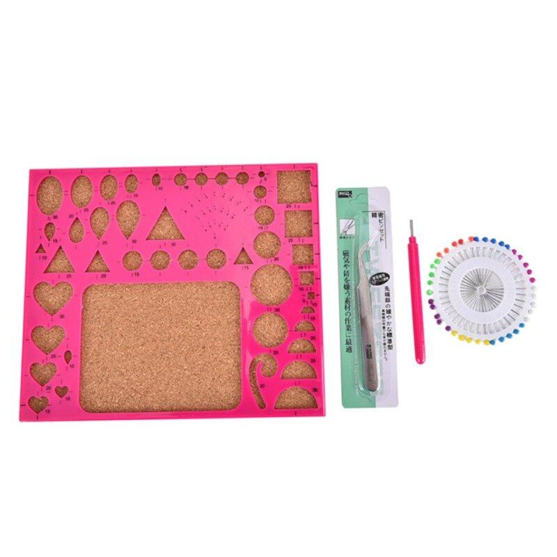 Buy 1 Set Paper Quilling Tool Kit Papercraft Tool DIY Handicraft Apply Mould Board Malaysia