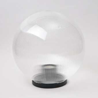 10 Inch Outdoor Globe Light/Gate Light For Pole (Prismatic Clear)