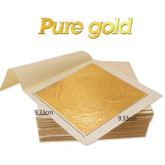 10 sheets 9.33 X 9.33cm 24K pure genuine edible gold leaf foilsheet 99.99% gold free shipping