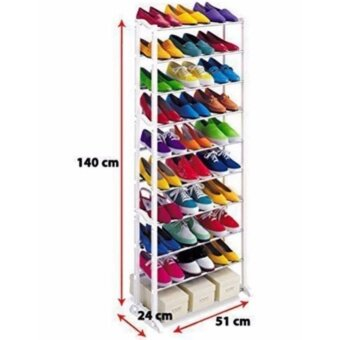 10 Tier Amazing Stainless steel Shoe Rack (BLACK)