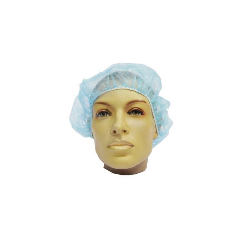 Buy 100 pcs of Safetyware NWBC-B21 Food Processing Pharmaceuticals Hair Salon Beaty Salon Non-woven Bouffant Cap (Blue) Malaysia