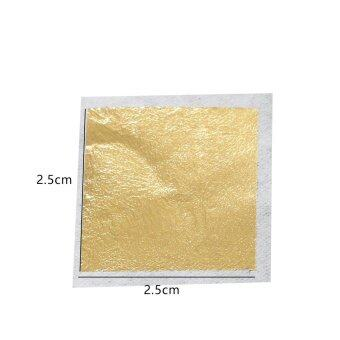 100 sheets 2.5 X 2.5cm 24K pure genuine edible gold leaf foil sheet99.99% gold free shipping