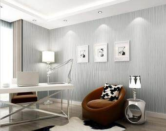 Simple Bedroom Wallpaper 100*53cm wallpaper smart curve modern simple flocking pearl 3d non