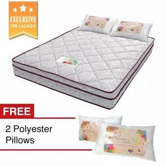 """10"""" BetterSleep Platinum Top Queen Size Foam Spring Mattress w/ FREE 2 Pillow"""
