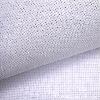 Harga 11ct white orange side stitch fabric Fabric