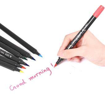 Harga 12 Colors/ Set Marker Marking Pen Twin Tip Brush Sketch Pens WaterBased Ink for Graphic Manga Drawing Designing
