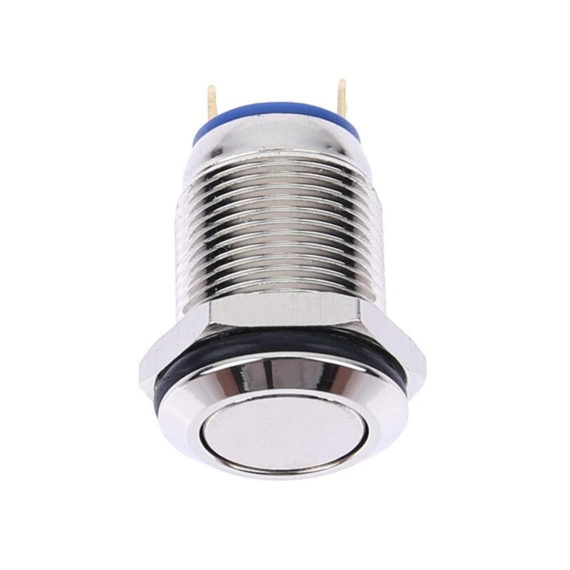 Buy 12mm Waterproof Flat Stainless Steel Metal Momentary Push Button Switch (Silver) Malaysia