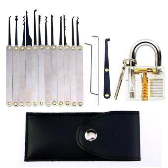 Harga 12Pcs Practice Lock Set Lock Pick Extractor Lockpicking Set withTransparent Professional Visible Cutaway Inside View Padlock forBeginners Unlocking Practice