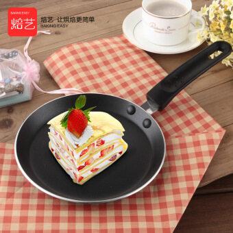 18, 22cm flat non-stick pan crepes Melaleuca cake class halberd leather pancake hand grasping cake baking