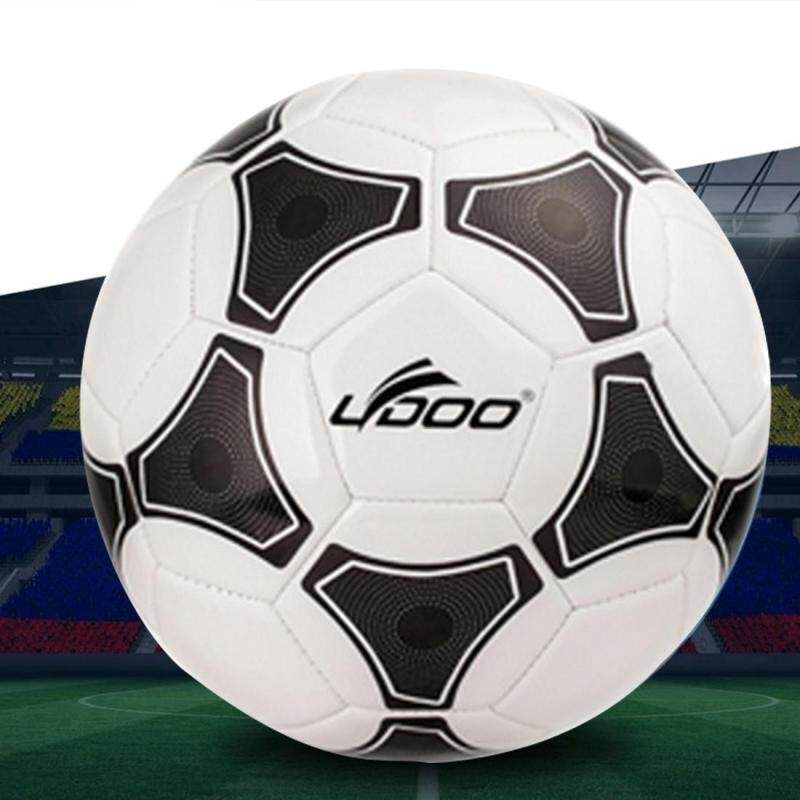 Buy 19cm PU Leather Sewing Wearable Match Football (Black + White) Malaysia