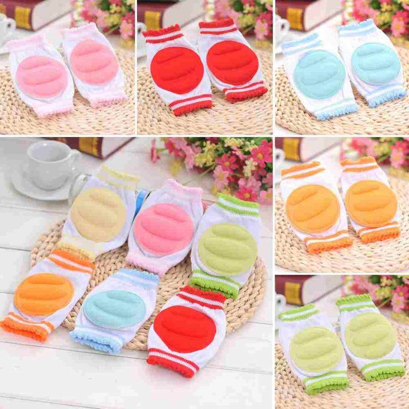 Buy 1*Baby Crawling Knee Pads Safety Elbow Cushion Knee Cap Infant Toddler Protector color randomly Malaysia