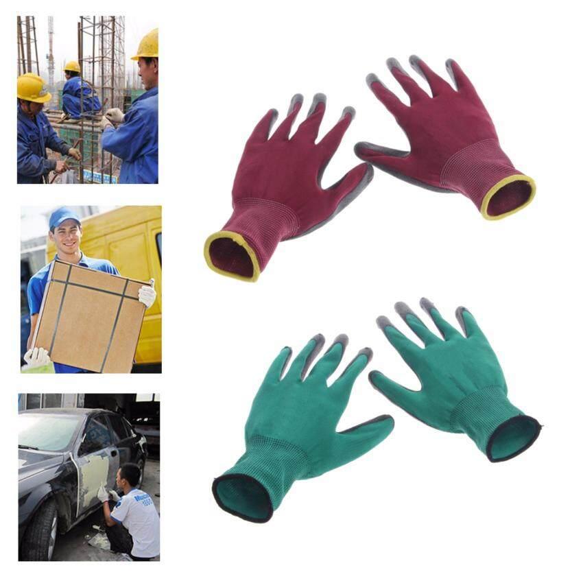 1 Pasang Rajutan Pergelangan Tangan Sarung Tangan Keselamatan Anti-selip Kerja Pabrik Taman Perbaikan-Internasional