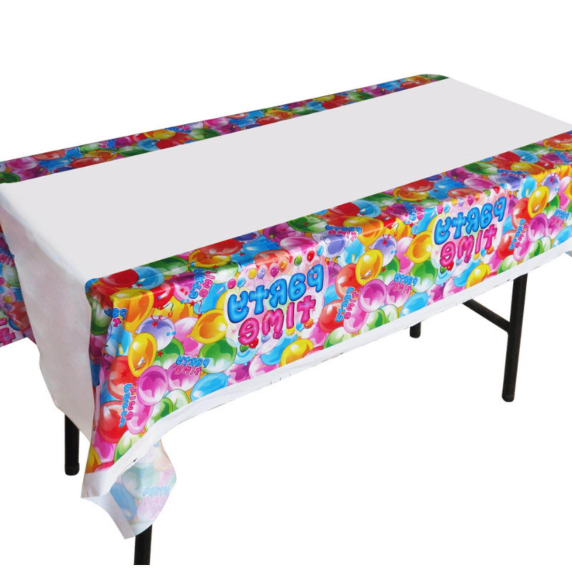 1pc Disposable Plastic Birthday Table Cover Cloth For Kids Birthday Party  Decoration Boy Girl Baby Shower