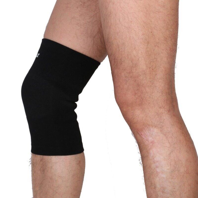 Buy 1pcs Elastic Sports Leg Knee Support Brace Wrap Protector Knee Pads Sleeve Cap Patella Guard Volleyball Knee - Black Malaysia