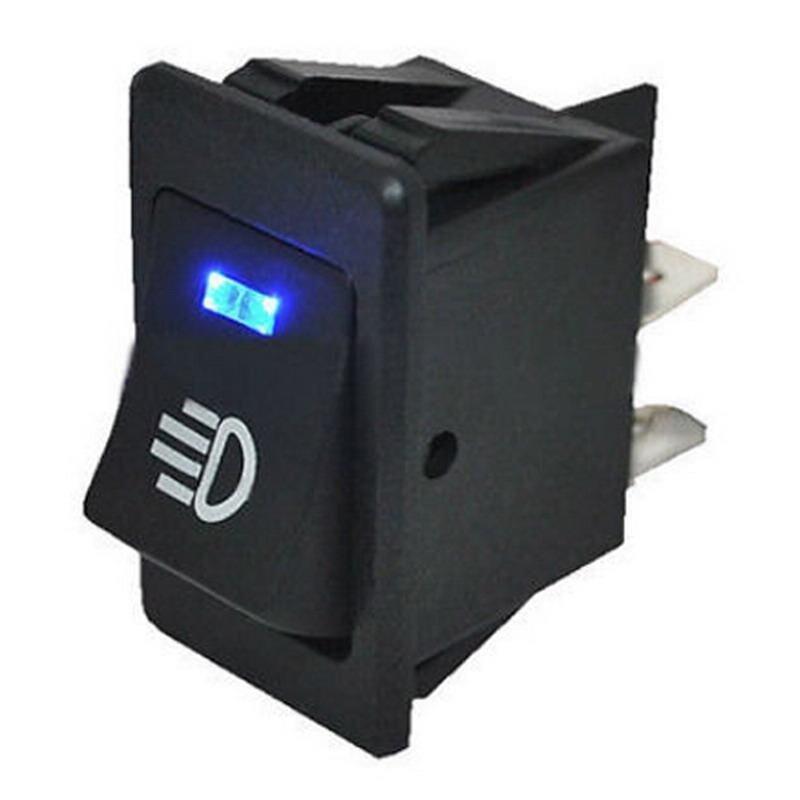 Buy 1PCS New Design 12V 35A Auto Car Fog Light Rocker Switch 4Pins Blue LED Dash Dashboard Malaysia