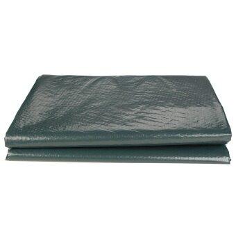 ... 2 PCS Waterproof Tarpaulin Ground Sheet Camping Cover Lightweight Dark Green 3.5cm x 3.5 cm ...