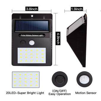 Buy 20 led solar lights outdoor waterproof solar powered motion 20 led solar lights outdoor waterproof solar powered motion sensor light wireless security lights outside mozeypictures Images