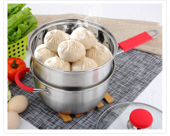 20cm with a steamer baby steamed egg non-stick milk pot stainless steel milk pot