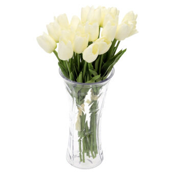 Sell 20PCS Artificial Tulip Flowers Single Long Stem Bouquet Real Touch Beautiful Simulation