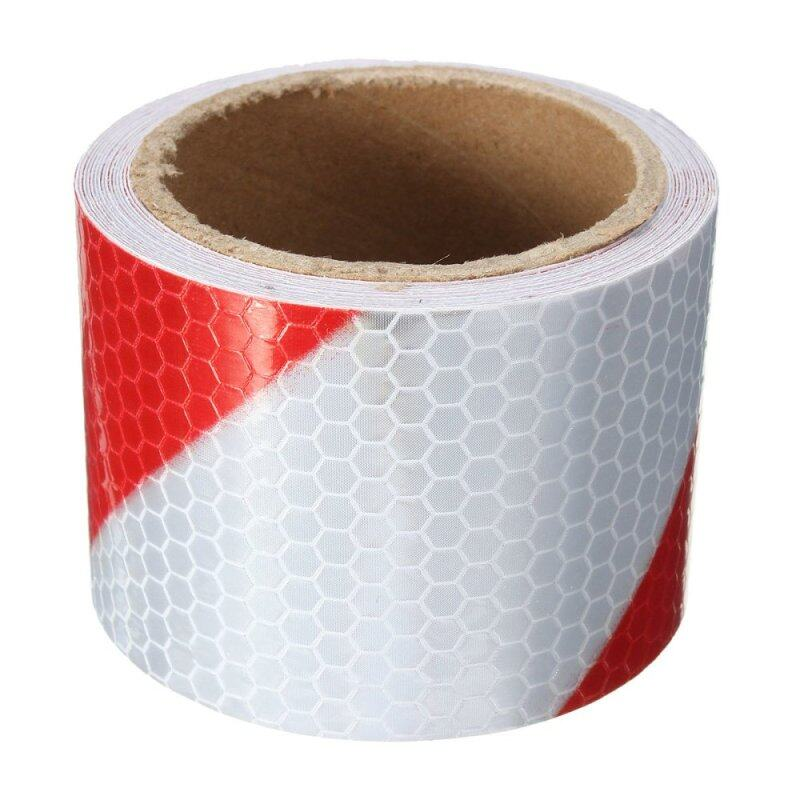 """Buy 2""""x10' 3M Red White Reflective Safety Warning Conspicuity Tape Film Stickers Malaysia"""