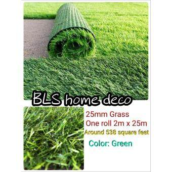25mm GREEN COLOR DIY ARTIFICIAL GRASS ROLL ( 2M X 25M ) FAKE GRASS,SYNTHETIC GRASS