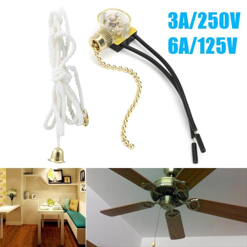 Buy 2Pcs 3A/250V 6A/125V Lighting Ceiling Fan Pull Chain Switch 2 Wire Connector Malaysia