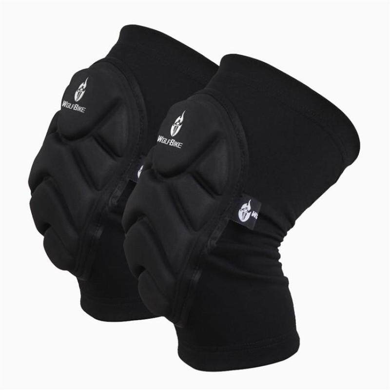 Buy 2pcs Kneepad Skiing Goalkeeper Soccer Football Volleyball Extreme Sports knee pads Protect Cycling Knee Protector - Size L Malaysia