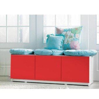 3-Door Storage Cabinet (Red) | Lazada Malaysia
