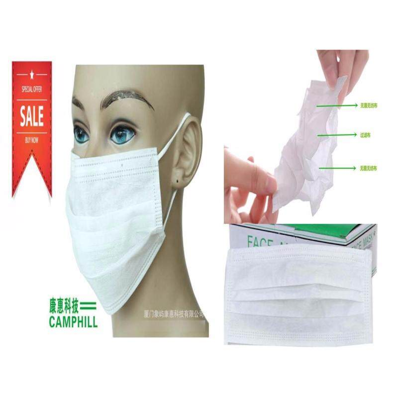 Buy 3 Layer Disposable Anti-Haze Surgical Medical Non Woven Mouth Face Mask Earloop White (50 PCS X 10 Boxes) Malaysia