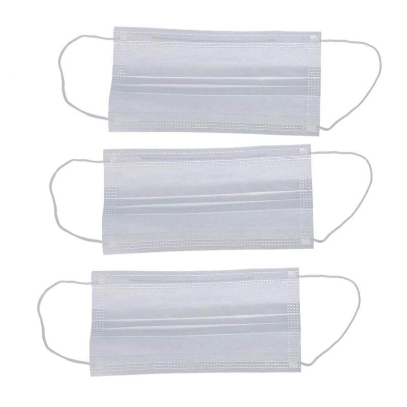 Buy 3 Pcs White Doctor Mouth Face Nonwoven Cotton Fabric Textile Masks (Intl) Malaysia