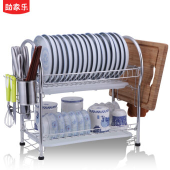 304 stainless steel dish rack dishes drain rack 2 layer filter bowlput dish rack double dish rack Kitchen Storage racks