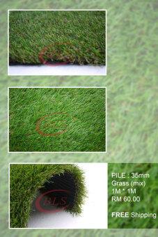 35MM ARTIFICIAL GRASS 930 ( 1 m X 1 m ) FAKE GRASS SYNTHETIC GRASS GARDEN DECO