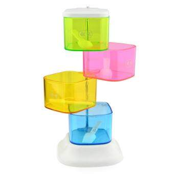 360DSC 4-Layer Colorful 360 Degree Rotating Spice Box