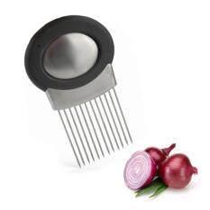 360DSC Stainless Steel Onion Holder Best Onion Slicer with Odor Eliminator Tool