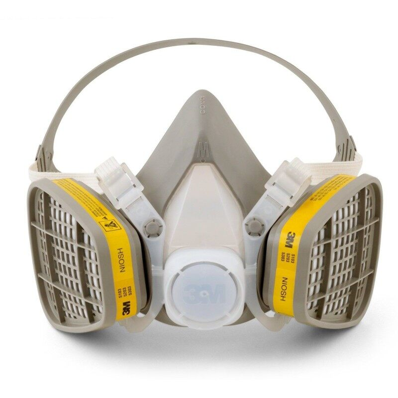 Buy 3M 6200 Half Facepiece Respirator + 3M 6003 Acid Gas/Organic Vapor Catridge + 3M 501 Filter Reatainer + 5N11 Particulate Filter Malaysia