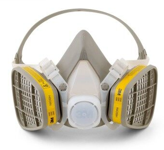 3M 6200 Half Facepiece Respirator + 3M 6003 Acid Gas/Organic VaporCatridge + 3M 501 Filter Reatainer + 5N11 Particulate Filter