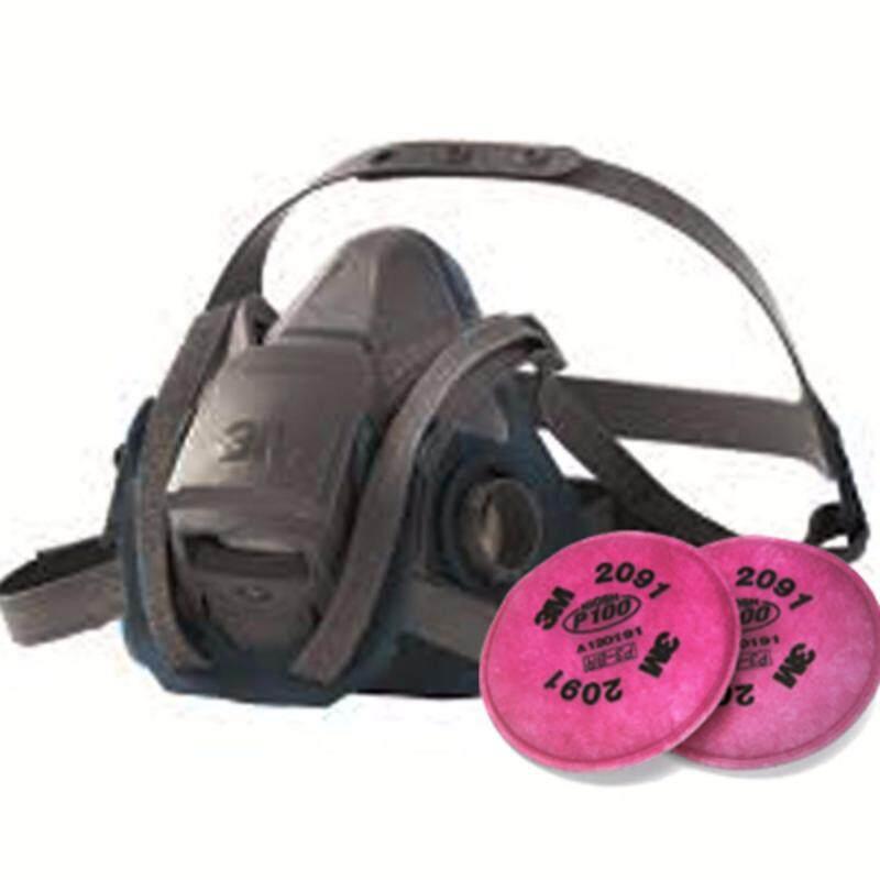 3M 6502QL Half Facepiece Respirator + 2091 Particulate Filter