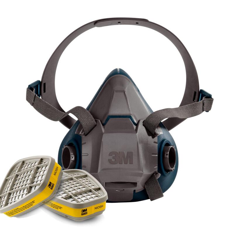 Buy 3M 6502QL Rugged Respirator Half Facepiece + 3M 6003 Acid Gas/Organic Vapor Cartridge Malaysia