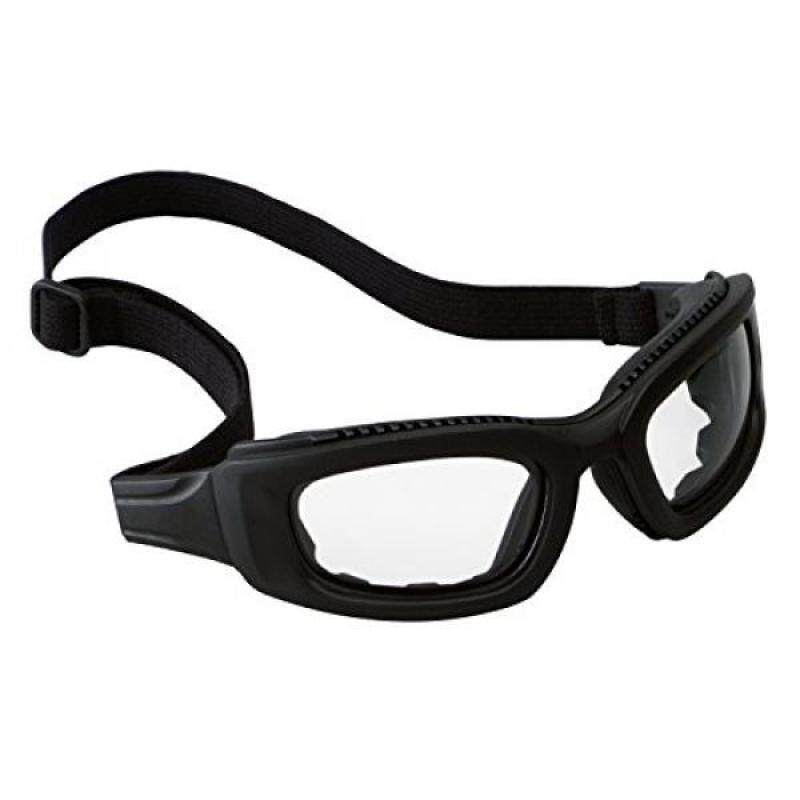 3M Maxim Safety Goggle 2x2, 40696-00000 Clr Anti-Fog Lens, Blk Frame, Strap, Side Venting (Pack of 1)
