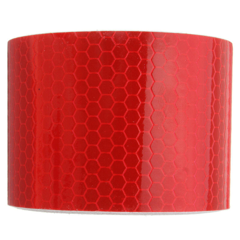 3M Safety Reflective Warning Conspicuity Film Sticker Strip Self Adhesive tape Red