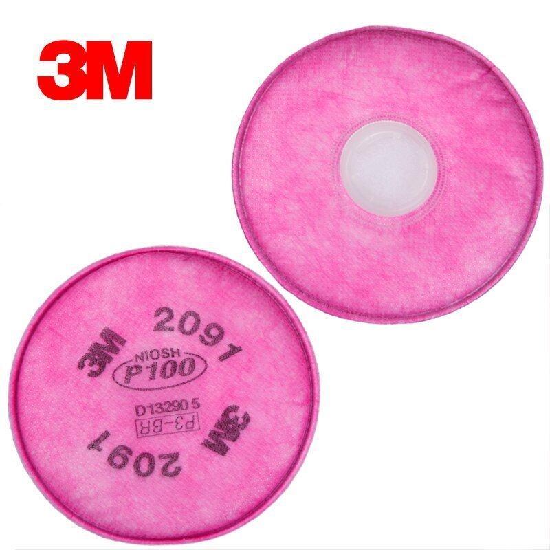 Buy 3M2091 P100 particles material filter cotton welding smoke dust glass fiber filter paper with mask use Malaysia