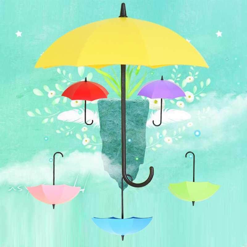 Buy 3Pcs Colorful Umbrella Shape Wall Hook Key Holder Organizer Decorative Hanger Malaysia