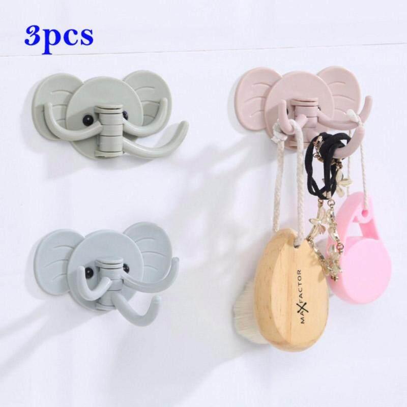 Buy 3pcs Cute Elephant Wall Hooks Wall Hanger Self - Adhesive Hanging Malaysia