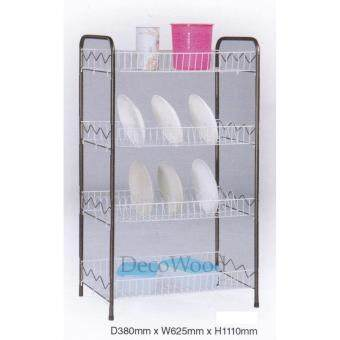 4-Layer Kitchen Rack/Dishes Rack/Plate Rack/Bowl Rack/Cup Rack/Cutlery Rack/Plate Rack/Metal Rack/Kitchen Rack/Sink Rack/Cooking Rack/Pantry Rack/Rak Dapur/Rak Masak (Random Colour) L625MM X W380MM X H1110MM