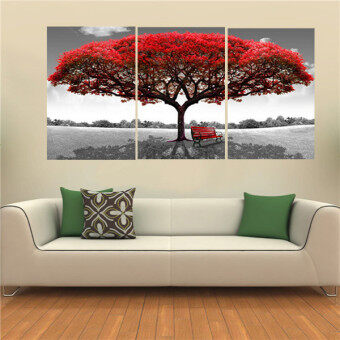 40x60cm red tree modern abstract oil painting on canvas art no frame home wall decoration. Black Bedroom Furniture Sets. Home Design Ideas