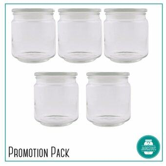 5 pieces Sebastian Pressed Glass Jar (500ml)