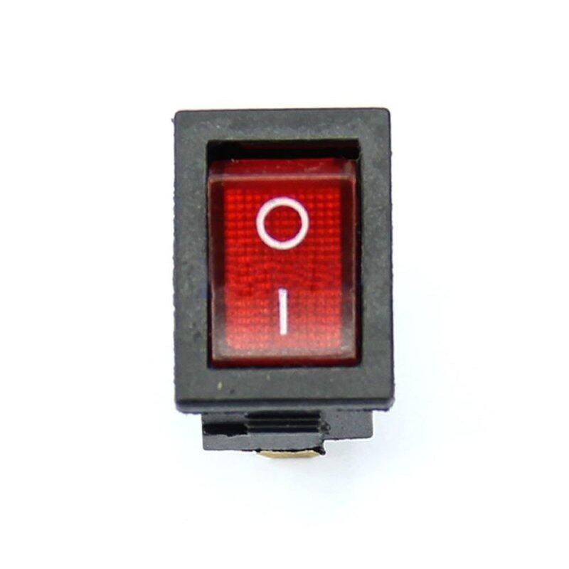 5Pcs/Lot 3 Pin AC 6A/250V 10A/125V Red ON-OFF SPST Snap in Boat Rocker Switch