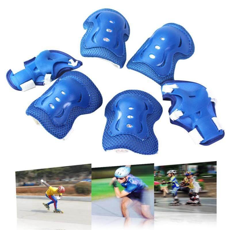 6PCS New Children Wrist Elbow Knee Pads Set Kids Sport Protective Tool Blue
