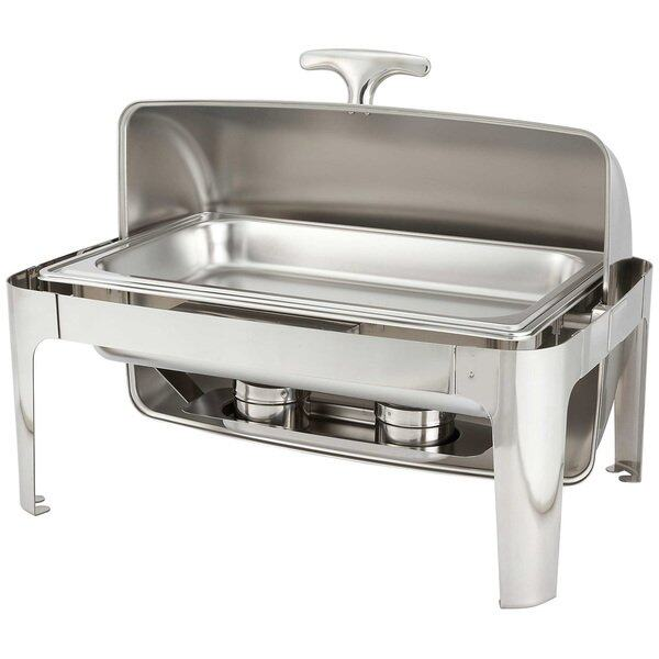 85 lit stainless steel rectangle roll top chafing dish lazada malaysia